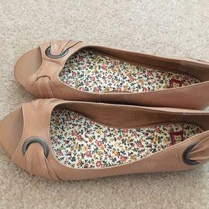 BC footwear flats with peep toe.